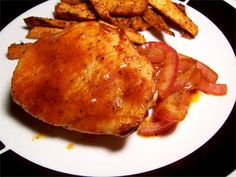 Oven BBQ Chicken w/ Sweet Potato Fries