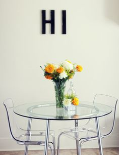 translucent table and chairs for a small space free up sight lines expanding the visual space