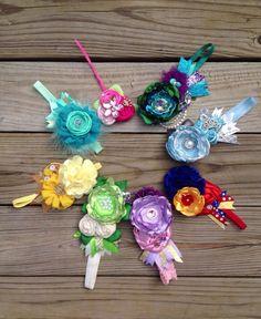 Disney Princess OTT Gypsy Headband Set.Disney Princess Birthday Bows by MamasMini, $99.99