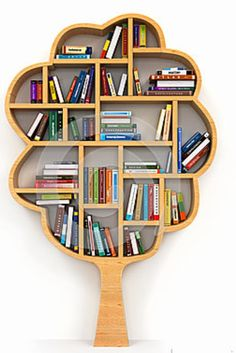 More tree bookshelves