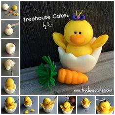 Easter cake topper