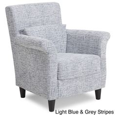 Contemporary Stripes Pattern Fabric Accent Chair 276