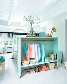 space trenner ideas as wardrobe use