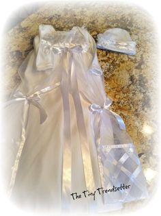 Elegant Satin Baby Girl Christening Gown by TheTinyTrendsetter, $129.00