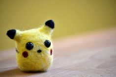 Palm Pet Pikachu - Needle Felted Chibi Kawaii Pokemon