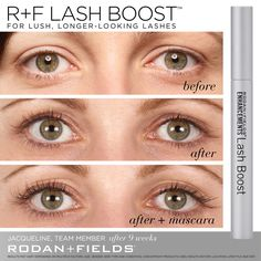 Want to love your lashes!? Check out this fabulous product -- Lash Boost by Rodan and Fields -- results as soon as 4 weeks! Ever thought you could go with NO Mascara!? Retail: $150, Preferred Customer: $135, Join My Team!!: $112 #NothingToLose #JoinMyTeam #LoveYourLashes #LashBoost #RodanAndFields #RFConsultant #RFSkincare #Skincare #LashesToLongFor #LongLashes #Eyelashes