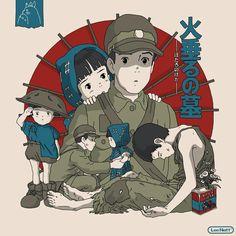 Hotaru no Haka ): Hayao Miyazaki, Japanese Animated Movies, Japanese Film, Studio Ghibli Art, Studio Ghibli Movies, Totoro, Hotaru No Haka, Personajes Studio Ghibli, Grave Of The Fireflies