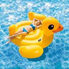 Inflatable Ride On for the Pool or Beach Intex 56286 Yellow Duck Island Cute Pool Floats, Giant Pool Floats, Pool Floats For Adults, Inflatable Floating Island, Floating Mat, Duck Island, Exercise Fitness, Inflatable Pool Toys, Giant Inflatable