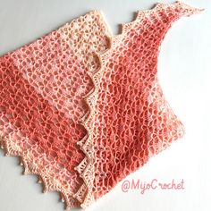 Apricot Summer Shawl / Aprikos sommarsjal – Mijo Crochet