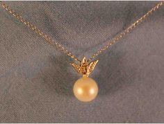 16' 14K White Gold Pearl & Diamond Necklace