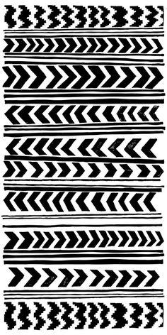 Chevron + Stripes, black & white pattern, monochrome print design // Marie Yates