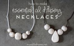 another style of DIY Essential Oil Diffusing Necklaces