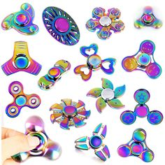1 PC Fidget Hand Spinner Torqbar Rainbow FINGET GYRO EDC Finger Toy Kids/Adult