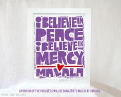 I Believe in Peace I Believe in Mercy by RawArtLetterpress on Etsy, $20.00