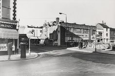 Photographic print made by the Borough Surveyors Department of Church Street, Brighton. Shows demolition on the corner of Regent Street. A post box is on the left and a large sign for Dockerill's is on the right. Brighton Rock, Brighton Sussex, Brighton And Hove, Images Of England, South East England, Local History, The Past, Street View, Post Box