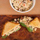 Chickpea Salad Sandwich with Vegan Tzatziki #vegan #recipes
