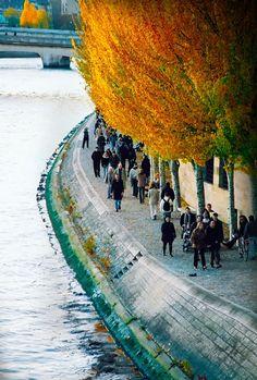 Pedestrian of River Seine, Paris France ~Via Nili Epstein