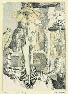 Max Ernst, Collage tiré de Une semaine de bonté,Premier poème visible 4, 1933 ©…