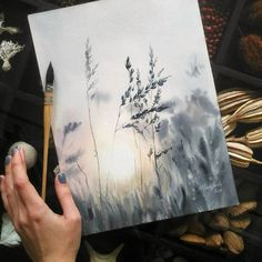for more art every day! Check out our Art Online Store (link in bio) Art by Bio Arte, Watercolor Landscape, Watercolour Painting, Painting & Drawing, Watercolors, Watercolor Sunset, Wet On Wet Painting, Watercolour Illustration, Sponge Painting
