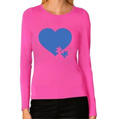 Autism Awareness Heart Puzzle - Autism Awareness Month Women Long Sleeve T-Shirt X-Large Pink Autism Awareness Month shirts. Support The Cause. Premium quality, long sleeve women's t-shirt. 100% combed-cotton (preshrunk,) machine washable. Avai...  #Autism #AutismAwareness #AutismHour #AutismInMyLife #AutismParents #AutismTMI #Autistic #Awareness #Heart #Long #Month #Pink #Puzzle #Sleeve #TShirt #Women #XLarge