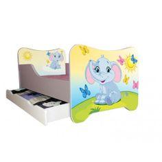 Kinderbett 70 x 140 cm weiß ELEFANT - mit Lattenrost und Matratze | Kinds bed 70x140 cm elephant #lilokids #kidsbed #kinderbett #kinder #kids #children