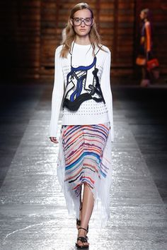 STAMPA RIGHE LAVATA Emilio Pucci - Spring Summer 2016 Ready-To-Wear - Shows - Vogue.it