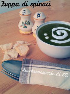 Ricetta della Zuppa di spinaci e ceci