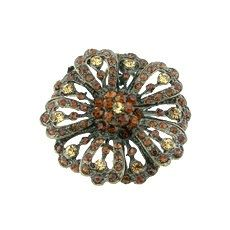 Smoky Crystals Rhinestones Antique Brass by FancyGemsandFindings, $25.00 Crystal Rhinestone, Antique Brass, Rhinestones, Crystals, Antiques, Rings, Floral, Jewelry, Antiquities