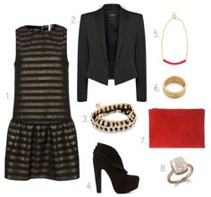 Cropped blazer, booties, and a fun clutch
