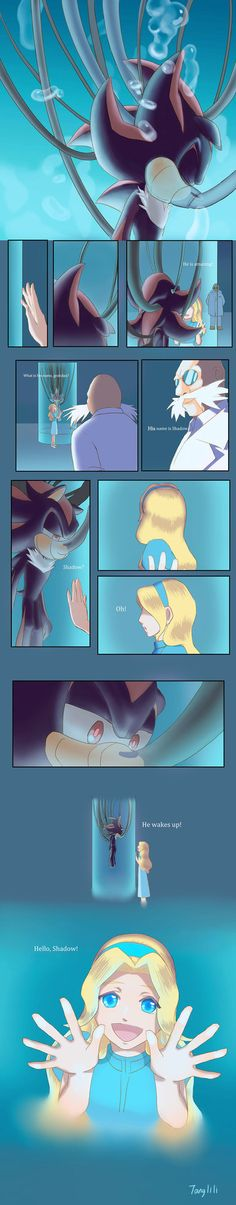 Wake up by Tanglili on DeviantArt Shadow The Hedgehog, Sonic The Hedgehog, Silver The Hedgehog, Sonic Funny, Sonic 3, Sonic And Amy, Sonic Fan Art, Maria Robotnik, Shadow And Maria