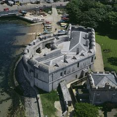 Portland Castle, Dorset, England. Another castle built by King Henry VIII in 1539 also known as Henrician Castles to guard the natural Portland anchorage.