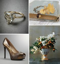 Golden Kumquats and Pine Cones ✈ Holiday Wedding Inspiration