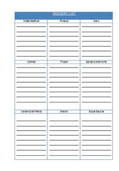 Free Shopping List Template Pindeanna Nibecker On Cc Cycle 1 Foundtations  Pinterest  Cycling