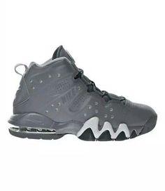 9f3c2825df2 Nike Air Max Barkley (GS) 7y Basketball Shoes White Grey 488245-002