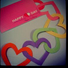 Paper chain hearts