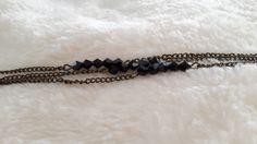 bracelet bronze et perles noires facettes : Bracelet par ninoubijoux