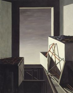 On the Contrary by Kay Sage, 1952. Oil on canvas.