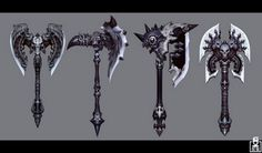 epic fantasy weapons and armor Fantasy Sword, Fantasy Weapons, Broad Sword, Battle Axe, Medieval Weapons, Prop Design, Design Ideas, Weapon Concept Art, Game Art