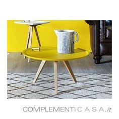 Tavolino con piano d'appoggio estraibile Servolone Miniforms