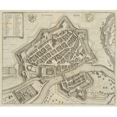 Cassellae, Kassel, Hessen, Kupferstich, Fototapete Merian