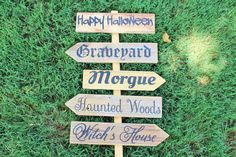 A personal favorite from my Etsy shop https://www.etsy.com/listing/547693869/outdoor-halloween-decoration-happy