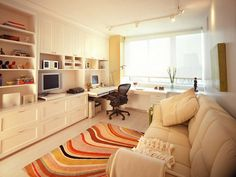 Nice office/guest room combo.