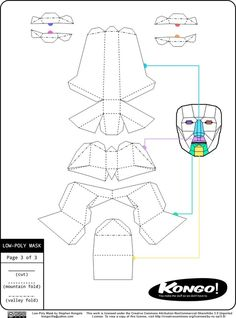 Create your own cool paper mask with this kit #coolhunting #DIY