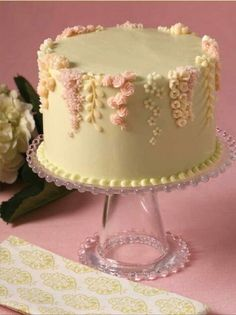 This would make a beautiful wedding or anniversary cake.  Just more layers for a wedding cake.