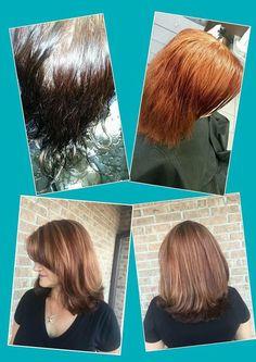 Wonderful hair color transformation, created by stylist Maria D  www.colorsbykim.com