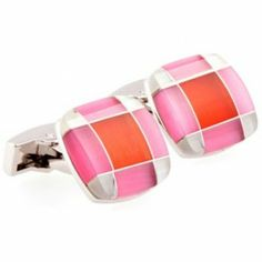 Pink Mother Of Pearl Square Cufflinks