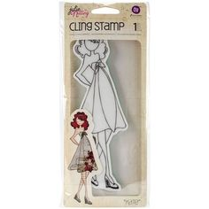 Julie Nutting Doll Cling Stamp - Kate Doll w/High Waist Dress