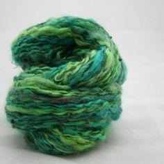 Dreamscape handspun beaded yarn Wool 99 yards by TemptressYarn, $35.00