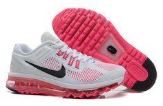 White Peach Black Nike Air Max 2013 Women's Running Shoes