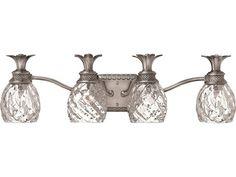 Hinkley Lighting Plantation Polished Antique Nickel Four-Light Vanity Light